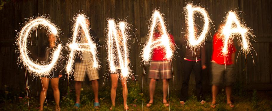 Canada Day Celebration Feuerwerk
