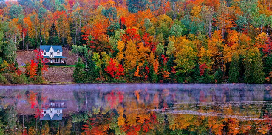 Kanada Indian Summer Bäume Farben